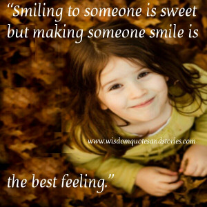 Smiling to someone is sweet but making someone smile is the best ...