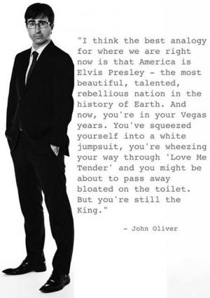 John Oliver Political Edian