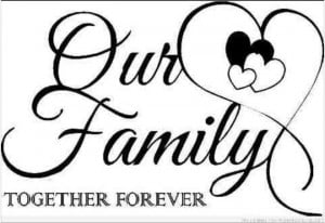 Our family together forever tattoo design