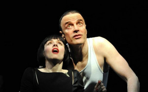 Sinead Matthews and Paul Rhys in 'The Master and Margarita'