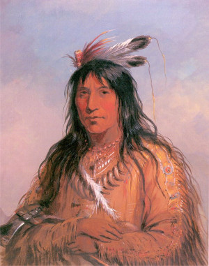 Bear Bull, Chief of the Oglala Sioux by Alfred Jacob Miller