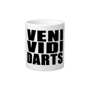 Funny Darts Players Quotes Jokes : Veni Vidi Darts Extra Large Mugs