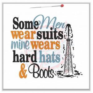 23 Oil field : Some Men Hard Hats & Boots 6x10