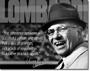 Vince Lombardi inspirational sales quote