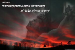 Bible Verses John 10:15 Jesus Crucified On The Cross Wallpaper