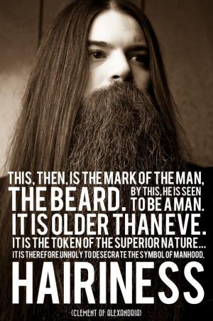 bearded gospel men the words belong to clement of alexandria the beard ...