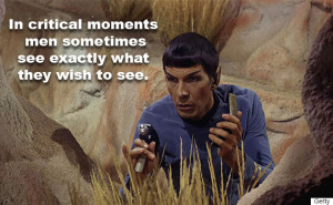 Spock just being Spock.