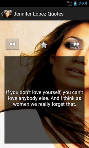 View bigger - Jennifer Lopez Best Quotes for Android screenshot