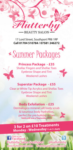 new leaflets no price increases but new treatments added and some new