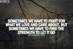 care, let go, love, quote, strength, tumblr