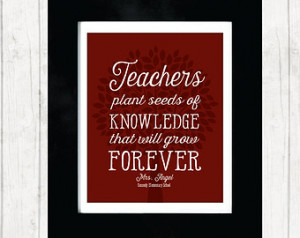 Christmas Quotes For Teachers Teacher's quote print