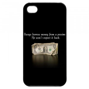 Funny Words Of Wisdom Quotes iPhone 4 Case