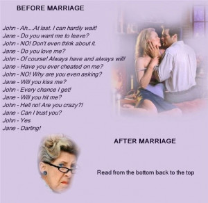 haha Funny Marriage Quotes Dialogs before And After Marriage Read From ...