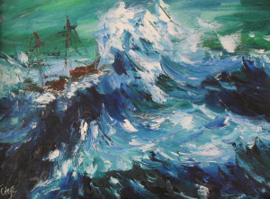 Rough Sea Painting Fine Art