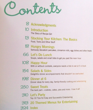 The Recipe Girl Cookbook covers all meals of the day- 195 recipes in ...