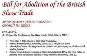 Title: Bill for the Abolition of the British Slave Trade