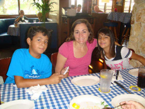 Aidan, our daughter Yvette, and Evelyn Clark at Greek Restaurant in ...