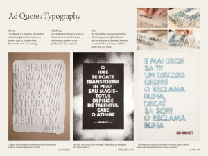 15 Minute Magazine: Ad Quotes Typography