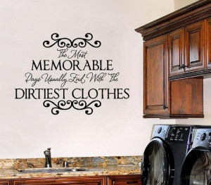 Laundry Room Wall Sayings - Vinyl Wall Decals Quote Lettering Transfer ...