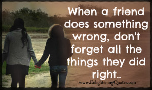 ... does something wrong, don't forget all the things they did right