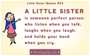 little sister is someone perfect person