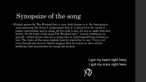 The Weeknd Wicked Games Lyrics Tumblr The weeknd wicked games lyrics