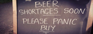 Funny Beer Sign: Get Your Stock of Beer Fast!