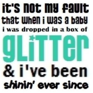 cute glitter quote!