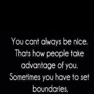 Setting Boundaries~