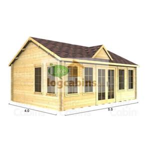 Double Wall Log Cabin