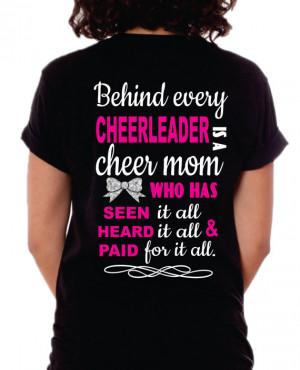 Cheer Mom Shirt, Cheer Mom T-Shirt, Behind every Cheerleader