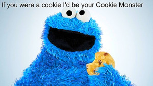 Note cookie Monster cookie