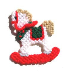 Rocking horse magnet Christmas plastic canvas by mawaggiescorner, $2 ...