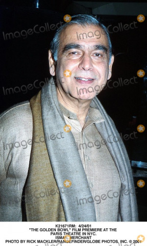 Ismail Merchant Picture 42401 the Golden Bowl Film Premiere at the