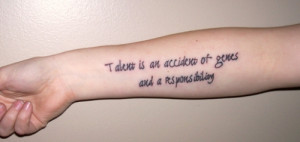 Inspirational Talent Quote Tattoos
