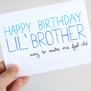 Little Brother Birthday Card - Birthday Card For Brother - Way To Make ...