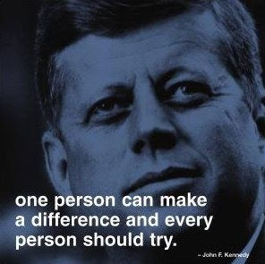John F. Kennedy quote.