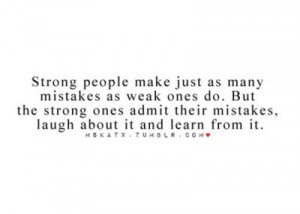 Learning from my mistakes.