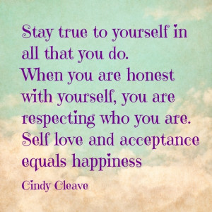 True to yourself quote