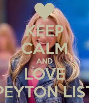 Keep Calm And Love Peyton List Poster