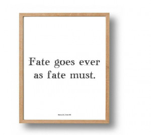 BEOWULF Literary Prints, Fate Quote Print, Book Quotes, Poetry Art ...