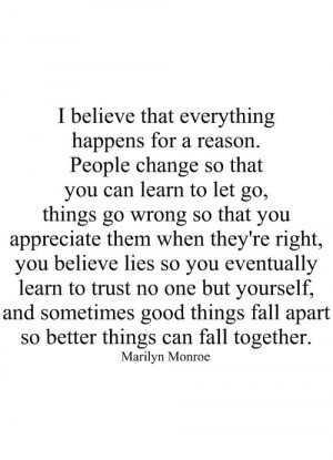 Good Things Fall Apart So Better Things Can Fall Together: Quote About ...
