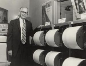 Charles Richter & his seismographs. (USGS.com, 2007).