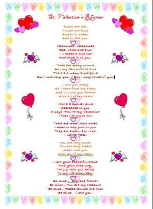 Some rhymes you can use to write Valentines with your students on St ...