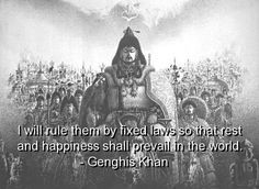 Genghis Khan on Pinterest - Take Risks, Led and Enemies