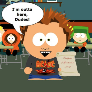 South Park Funny Quotes A caricature of the graduate