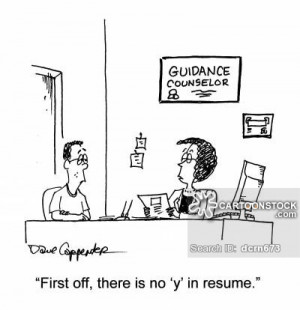 Teacher Resume Cartoon Counselor cartoon 2 of 2