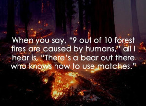 funny forest fires, funny quotes