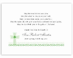 note features and irish cross with a shamrock, Irish blessing quote ...