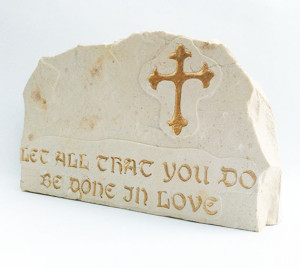 stone engraved with Bible quotes about love,inspiration engraved ...